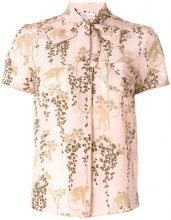 Red Valentino - Camicia con stampa - women - Silk - 40 - PINK & PURPLE