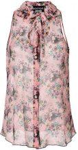 Boutique Moschino - Camicia con stampa floreale - women - Silk - 42, 44 - Rosa & viola