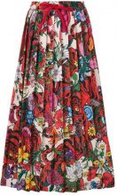 Gucci - Gonna con stampa floreale - women - Cotton/Polyamide/Polyester - S, M, XS - MULTICOLOUR