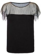 Versace Collection - lace overlay blouse - women - Viscose/Spandex/Elastane - 42 - Nero