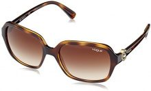 Vogue 0VO2994SB W656T5 57, Occhiali da Sole Donna, Marrone (Dark Havana/Polarbrowngradient)