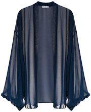 - Isolda - Genevieve cape - women - Polyester - 40, 36, 38 - Blu