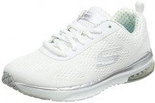 Skechers Skech-Air Infinity, Sneaker Donna, Bianco (White/Silver), 36 EU