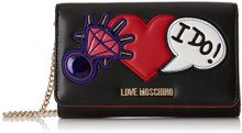 Love Moschino Portafogli Nappa Pu Nero - Borse Baguette Donna, (Black), 3x11x17 cm (B x H T)