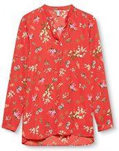 ESPRIT 087ee1f045, Camicia Donna, Multicolore (Orange Red 635), 34