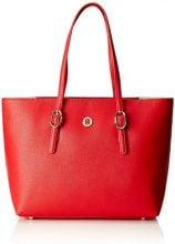 Tommy Hilfiger Th Buckle Tote - Borse a spalla Donna, Rosso (Tommy Red), 14x27x40 cm (B x H T)