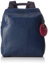 Mandarina Duck Mellow Leather Tracolla - Borse a spalla Donna, Blu (Eclipse), 9.5x36x30 cm (B x H T)