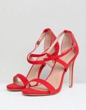 New Look - Sandali con tacco e incrocio - Rosso