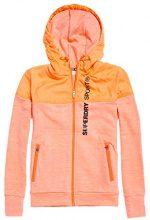 Superdry Superdrysporthybrid, Giacca Sportiva Donna, Arancione (Hot Coral Mhi), X-Small (Taglia Produttore:8)