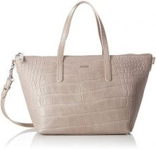 Joop! Croco Soft Helena Handbag Mhz - Borse a secchiello Donna, Beige (Taupe), 14x23x26 cm (B x H T)