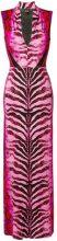 Just Cavalli - animal print evening gown - women - Spandex/Elastane/Viscose - 38, 42, 44, 46 - PINK & PURPLE