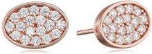 Ingenious Jewellery-Collana in argento Sterling con pavé ovale ES006029, RG-Orecchini a perno