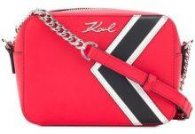- Karl Lagerfeld - Borsa a spalla 'K/stripes' - women - pelle - Taglia Unica - di colore rosso