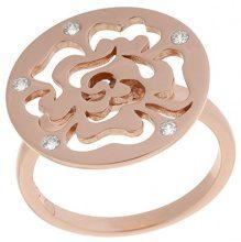 Orphelia dreambase-anello in argento placcato oro con zirconi bianco brillante taglia 52 (16,6) - ZR-7079/1/52