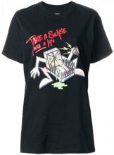 Bad Deal - T-shirt con stampa 'Pizza' - women - Cotton - XS, S, M, L - BLACK