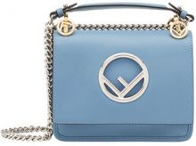 Fendi - Kan I F shoulder bag - women - Calf Leather - OS - BLUE