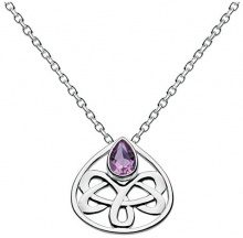 Heritage in argento Sterling 925 donna-collare 9202, Argento, colore: Viola, cod. 9202AM