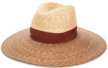 Borsalino - Cappello a tesa larga - women - Straw - One Size - BROWN