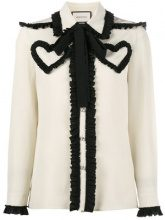 Gucci - Blusa decorata - women - Silk - 38, 40, 42, 44, 46 - Bianco