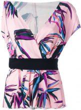 Emilio Pucci - palm trees print top - women - Viscose/Silk - 42 - Multicolore