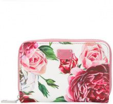 Dolce & Gabbana - peony print small wallet - women - Calf Leather - One Size - MULTICOLOUR