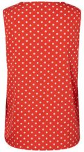 NOISY MAY Dotted Sleeveless Top Women Red