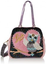 Irregular Choice What A Hoot - Borse mano Donna, Rosa (Pink/black), 16x30x32 cm (W x H L)
