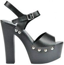 Sandali in pelle con maxi tacco