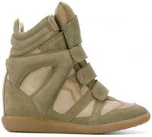 Isabel Marant - Sneakers 'Étoile Bekett' - women - Leather/Calf Suede/rubber - 37, 36, 39, 35, 38, 40 - GREEN
