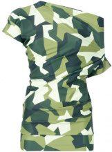 Junya Watanabe - Top camouflage - women - Polyester/Polyurethane - S - Verde