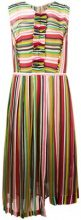 Nº21 - striped pleated dress - women - Silk/Acetate - 42, 44 - Multicolore
