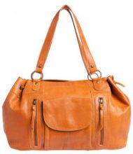 PIECES Leather Shoulder Bag Women Brown