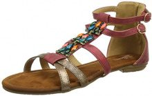 Joe Browns Arabian Sunset Sandals, Sandali alla Schiava Donna, Rosso (Red/Gold A), 37 EU