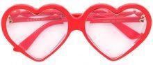 Gucci Eyewear - Occhiali da sole a cuore - women - Acetate - One Size - YELLOW & ORANGE