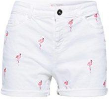 ESPRIT 068ee1c006, Pantaloncini Donna, Multicolore (White 100), W34 (Taglia Produttore: 34)