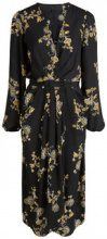 Y.A.S Floral Wrap Dress Women Black