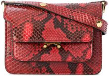 Marni - Mini borsa a spalla 'Trunk' - women - Python Skin - OS - RED
