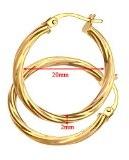 Citerna - Orecchini a cerchio in oro giallo 9k (375)