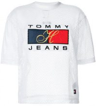 Tommy Jeans - logo T-shirt - women - Polyester - S, M, XS - WHITE