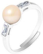 Pearls & Colors Donna 925 Argento Bottone Perla d'acqua dolce Perla
