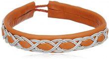 Pilgrim Jewelry 291326352 - Bracciale da donna, ottone e pelle, 185 mm