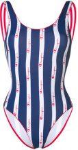 Champion - Costume intero a righe - women - Polyamide/Spandex/Elastane/Polyester - L - BLUE