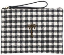 Tomas Maier - chequer canvas pouch - women - Cotton - OS - BLACK