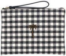 - Tomas Maier - chequer canvas pouch - women - cotone - Taglia Unica - di colore nero