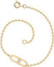 Bijoux pour tous Cinturino, placcato oro, con ossido di zirconio, 19 cm-4202140 BL
