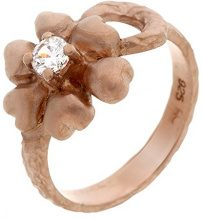 Orphelia dreambase-anello in argento placcato oro con zirconi bianco brillante misura (15,9) - 50 ZR-3929/1/50