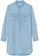 FIND Denim Shirt Vestito Donna, Blu (Light Indigo), 40 (Taglia Produttore: X-Small)