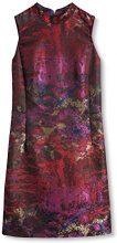 ESPRIT Collection 106EO1E010 - Regular Fit, Vestito Donna, Multicolore (Dark Red 2), 38