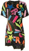 Diesel - Vestito corto con perline e paillettes - women - Plastic/Polyester/Viscose/glass - S, M, L - BLACK