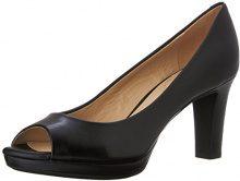 Geox D Lana A - Scarpe Peep-Toe Donna, Nero (BLACKC9999), 39 EU
